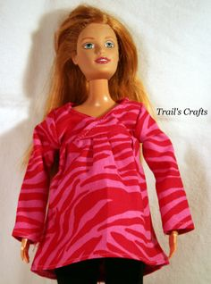 Handmade Doll Clothes For Pregnant Barbie Outfit by TrailsCrafts, $4.00