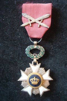 WW1 Belgium Military Medals Order of Couronne with Cross Swords Certificate   eBay