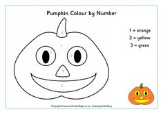 Pumpkin colour by number