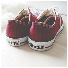 ♡ I think i want a pair of maroon converse cause my school's color is maroon.