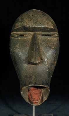 Dan Passport Mask Dan people, Ivory coast wood w/ organic piugments