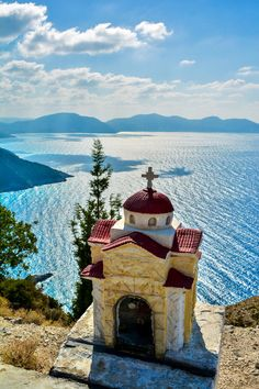 Little Church, Kefalonia, Greece Europe Travel Tips Places Around The World, Oh The Places You'll Go, Travel Around The World, Places To Travel, Travel Destinations, Places To Visit, Around The Worlds, Romantic Destinations, Romantic Vacations