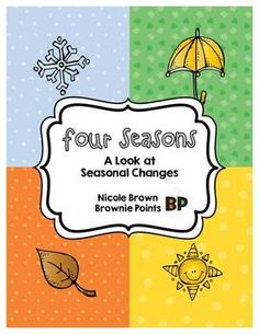 This pack contains more than enough activities for a unit on seasonal changes!