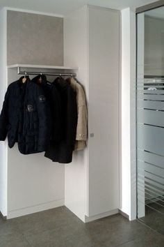 Wardrobes, furniture for corridors and entrance areas made to measure # wardrobe org … - Modern Made To Measure Wardrobes, Wardrobe Furniture, House Entrance, Entrance Hall, Corridor, Cupboard, Interior Inspiration, New Homes, Closet