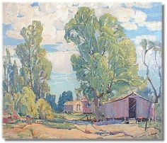 """JACK LAURITZ (1912-1990) Landscape/Plein Air artist. Is the son of California painter Paul Lauritz and is listed in Davenports, ADEC, Franklin & James, Askart and Artnet.  Work is titled """"Old California."""""""