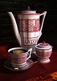 Ceramic Tableware ''Latvija'' by *Gothicpagan on deviantART