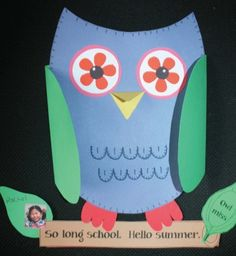 From Teach With Me: Owl Miss You Writing Prompt Craftivity