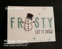 Stampin' Up! Snow Place by Melissa Davies @rubberfunatics #stampinup #rubberfunatics