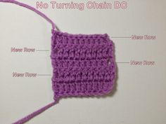 No Beginning Chain Double Crochet. Should you make the switch to this technique? See some examples. #crochet #CrochetTips