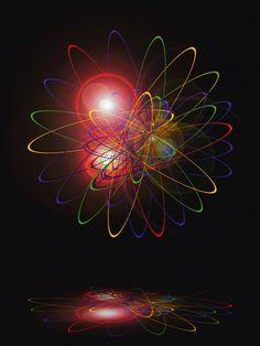 Walter Zettl: Licht und Energie 4 - Glasbild 80 x 60 cm Glasbilder