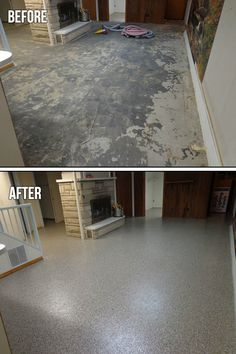 Flood Proof Basement Floor   1000u0027s Of PERMANENT Colorful Chip  Combinations. The Look Of Granite