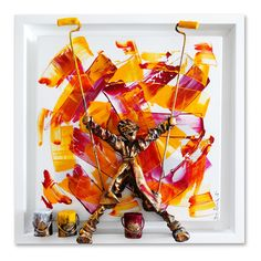 Sculptural painter: Large-scaled mixed media works that combine sculptures within paintings are unquestionably signature to Saint Maxent. Artist Painting, Contemporary Art, Saints, Sculptures, Create, Inspiration, Painted Canvas, Characters, Canvas