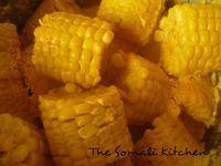 Galey iyo Qumbo (Corn in coconut sauce) - The Somali Kitchen