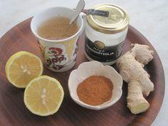 Citron, ingefära, kanel och kokosolja till värmande LCHF-dryck