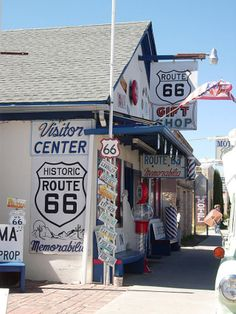 Route 66 Visitor Center & Gift Shop.