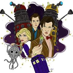Doctor Who Official on Tumblr - jessicawhitmore: My finished #DoctorWho piece in...