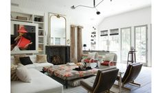 Patterned ottoman in the House of Windsor Windsor House, Windsor Smith, Interior Inspiration, Room Inspiration, Great Rooms, Home And Living, Living Spaces, Living Rooms, Family Room