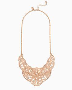 Astra Filigree Bib Necklace | Fashion Jewelry | charming charlie
