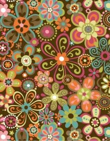 Floral Fabric design for Robert Kaufman by artist Linda Webb. See more on Coroflot