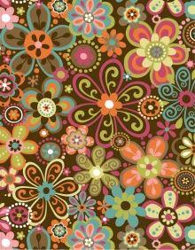 Floral Fabric design for Robert Kaufman by artist Linda Webb. See more on Coroflot
