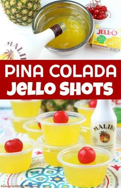 Summer Jello Shots, Best Jello Shots, Jello Pudding Shots, Luau Jello Shots, Alcohol Jello Shots, Alcohol Drink Recipes, Tipsy Bartender Jello Shots, Jello Shots With Vodka, Body By Vi
