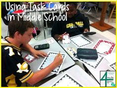 Using Task Cards in Middle School