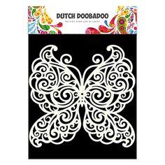 Pochoir mask Dutch doobadoo motifs fond Grand Papillon
