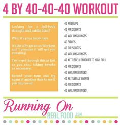 4 by 40-40-40 Workout