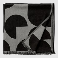 Forma throw - Black/grey, H 130 cm | L 170 cm