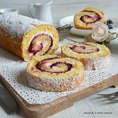 Torta arrotolata con crema al mascarpone e marmellata | Cucinare è come amare