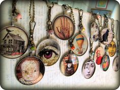 Antique Optometrist Lens Necklaces, Mixed Set of 13, Wholesale Jewelry, Wholesale Necklace. $236.00, via Etsy.