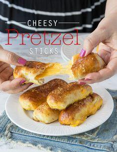 Cheesy Pretzel Sticks