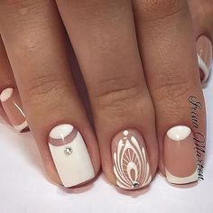 There are nail designs that include only one color, and some that are a combo of several. Some nail designs can be plain and others can represent some interesting pattern. Also, nail designs can differ from the type of nail… Read more › Fabulous Nails, Perfect Nails, Gorgeous Nails, Fancy Nails, Cute Nails, Pretty Nails, Uñas Fashion, Nail Photos, Manicure E Pedicure