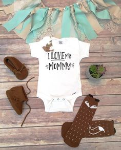 I Love My Mommy Onesie®, Hipster Baby Clothes, Mom Onesie, Baby Boy Clothes, Unisex Baby Clothes, Gifts for Moms, Love Onesie, Mother's Day
