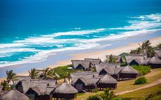 The beautiful Massinga Beach Lodge in Mozambique is a popular beach getaway destination for; honeymooners and romantic couples. Maputo, Places Around The World, Around The Worlds, Mozambique Beaches, Sailing Trips, To Infinity And Beyond, Island Resort, Beach Holiday, Amazing Destinations