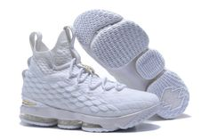 quality design 9b9ee ca247 2018 New Nike LeBron XV EP 15 Mens Basketball Shoes White Gold,Cheap Nike  Lebron 15 , Newest Nike Lebron 15 , Discount Nike Lebron 15 , Authentic Nike  ...