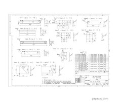Gantry crane project papacad.com Crane Drawing, Technical Documentation, Crane Design, Autodesk Inventor, Gantry Crane, 3d Cad Models, Technical Drawing, Autocad, How To Plan
