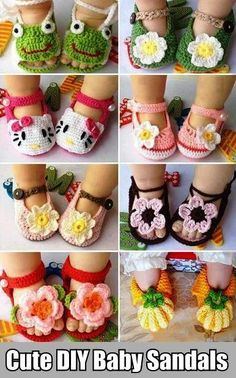 Cute DIY Baby Sandals