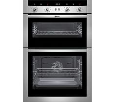 NEFF U15M52N3GB Electric Double Oven - Stainless Steel