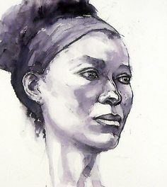 Portrait of Susannah by Roz McQuillan    Ink drawing on smooth watercolour paper.