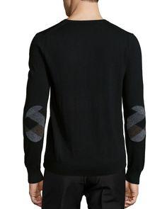 Dockley Wool V-Neck Sweater, Black