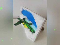 Peisaj 3D - Avion - YouTube Make It Yourself, 3d, Green, Youtube, Handmade, Hand Made, Youtubers, Youtube Movies, Handarbeit
