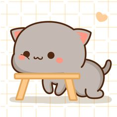 Grey Cats, White Cats, Wallpaper Gatos, Chibi Boy, Cute Kawaii Drawings, Cute Cat Gif, Anime Life, Cute Stickers, Kittens Cutest