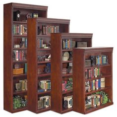 Have to have it. kathy ireland Home by Martin Huntington Club Wood Bookcase - $399 @hayneedle