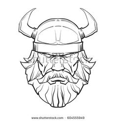 Angry viking face, head. Sport mascot, concept, vector illustration.