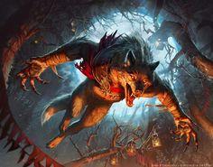 Fantasy Creatures, Mythical Creatures, Monster Board, Werewolf Art, Mtg Art, Warcraft Art, Unusual Art, Deviantart, Dark Fantasy Art
