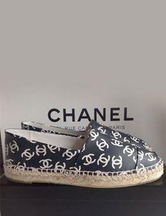 Chanel Printed CC Lambskin Leather Espadrilles