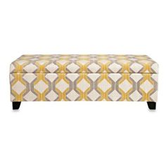 angelo:HOME Kent Storage Bench in Modern Deco Yellow/Taupe Tilework - BedBathandBeyond.com