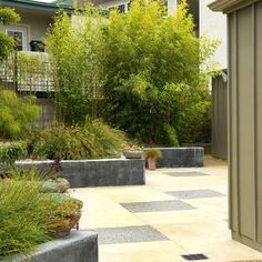 33 Ideas For Mid Century Modern Landscape Ideas Landscape Curbing, Landscape Plans, Landscape Design, Garden Design, Country Landscaping, Front Yard Landscaping, Backyard Landscaping, Landscaping Ideas, Mid Century Modern Landscaping