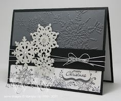 Christmas snowflake card by Wendy